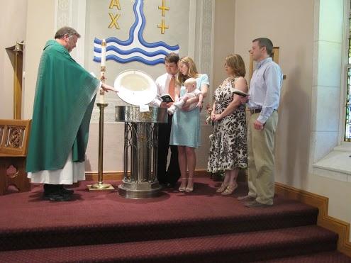 Eli's baptism, 6.5 months.